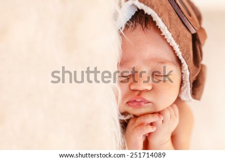 newborn dreams.  infant baby sleeping - stock photo