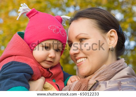newborn in the arms of mother nature on the