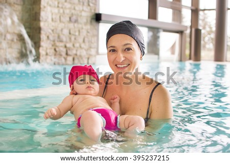 newborn pool mom  mother spa baby