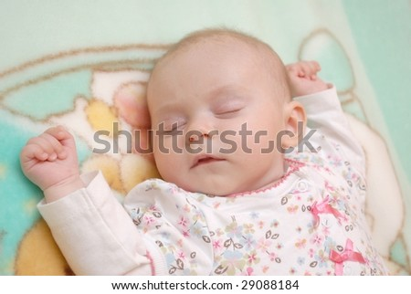 newborn sleep - stock photo