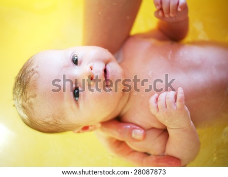 newborn washing