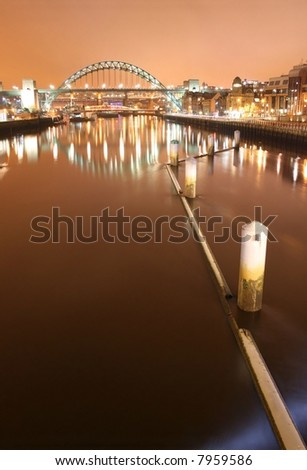 Newcastle - Tyne bridge - stock photo