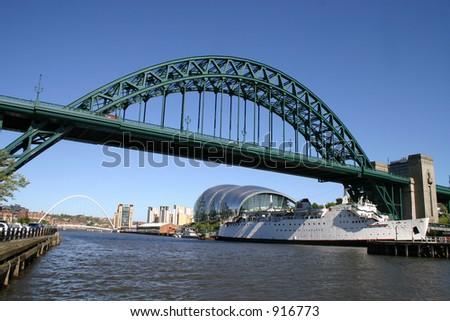 newcastle tyne bridge - stock photo