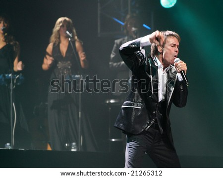 Newcastle Upon Tyne (England) - November 28: Singer Cliff Richard performs for his Time Machine Tour 2008 at Metro Radio Arena on November, 28, 2008 in England.