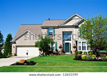 Newer Home in suburbs of Cleveland Ohio, US - stock photo