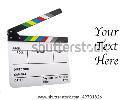 Newer white clapboard with room for text - stock photo