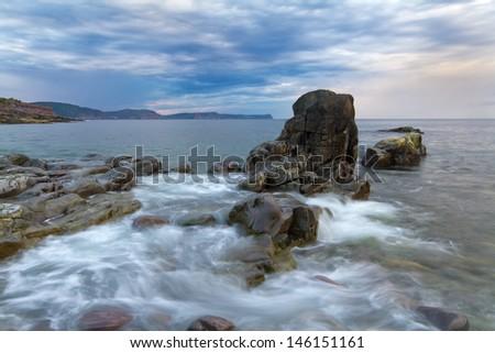 Newfoundland coastline, Canada - stock photo