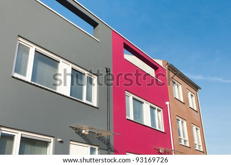 newly build  houses in Almere, Netherlands - stock photo