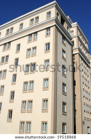 Newly built office center in Moscow - stock photo
