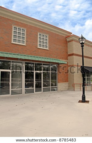 Newly Constructed Commercial Building - stock photo