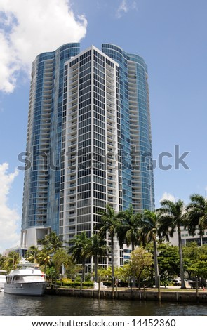 Newly constructed residential buildings in Fort lauderdale - stock photo