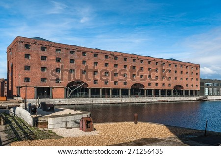 Newly developed historic Stanley Dock appartments in Liverpool. - stock photo
