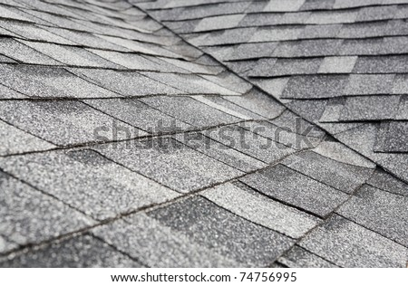 Newly installed roof - stock photo