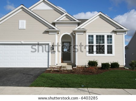 Newly landscaped house