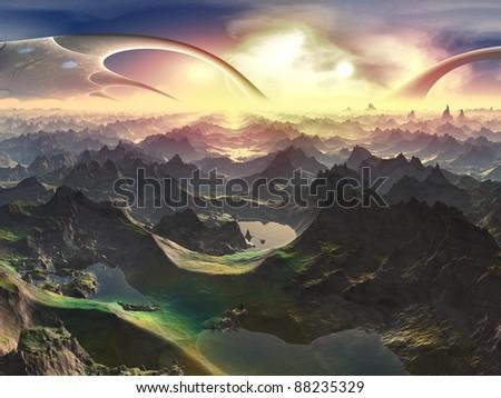 Newly Terraformed World - stock photo