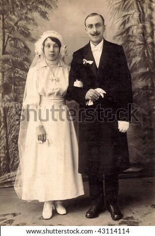 Newlyweds (1910) - stock photo