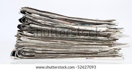 Newpapers - stock photo