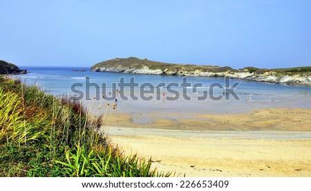 Newquay - Atlantic ocean. England.   - stock photo