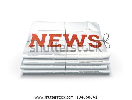 News, bitmap copy - stock photo
