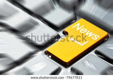 News button on keyboard - stock photo