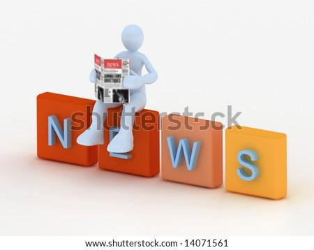 news concept - stock photo