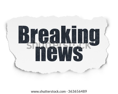 News concept: Breaking News on Torn Paper background - stock photo