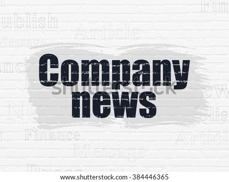 News concept: Company News on wall background - stock photo