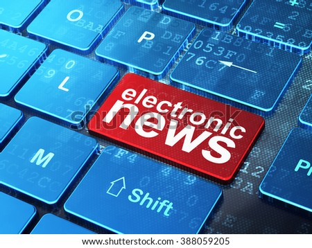 News concept: Electronic News on computer keyboard background - stock photo