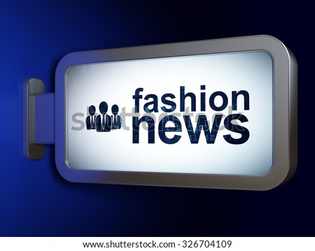 News concept: Fashion News and Business People on advertising billboard background, 3d render - stock photo