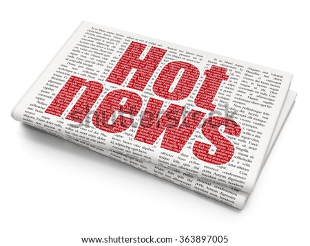 News concept: Hot News on Newspaper background - stock photo