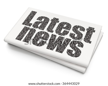 News concept: Latest News on Blank Newspaper background - stock photo