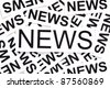 News concept made by many pieces of paper with the word NEWS on them. - stock photo