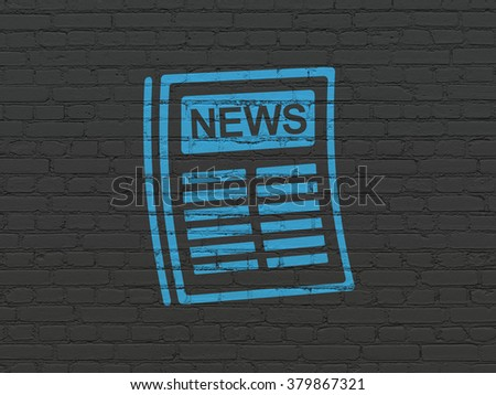 News concept: Newspaper on wall background - stock photo
