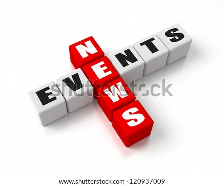News Events crosswords. Part of a business concepts series. - stock photo