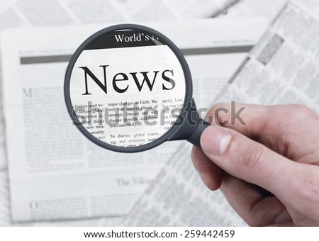 News headline - stock photo
