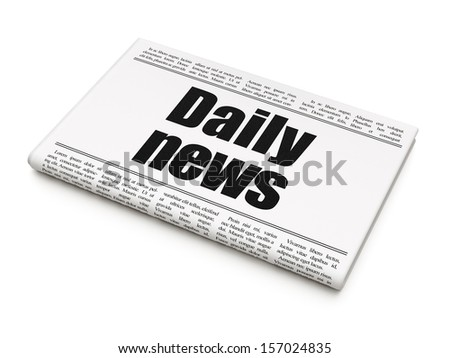News news concept: newspaper headline Daily News on White background, 3d render - stock photo