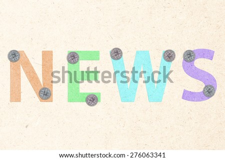 news on board - stock photo
