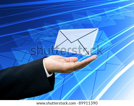 News on hand, Business mail concept