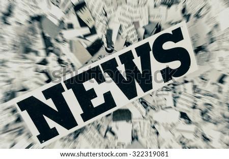 news paper confetti concept - stock photo
