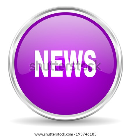 news pink glossy icon - stock photo
