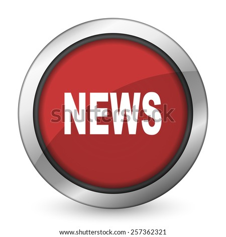 news red icon   - stock photo