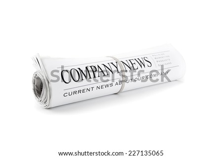 News. Rolled Newspaper isolated on white - stock photo