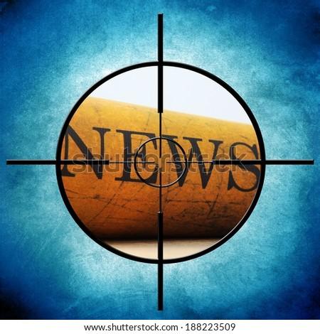 News target - stock photo