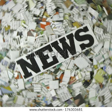 News text  - stock photo