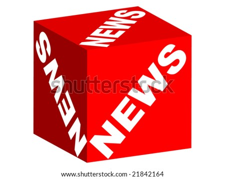 NEWS text on box - stock photo