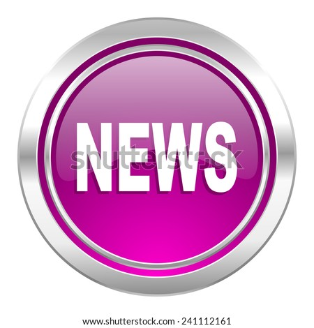 news violet icon   - stock photo