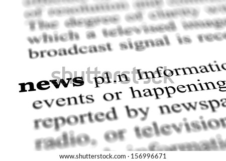news word from dictionary, close up - stock photo