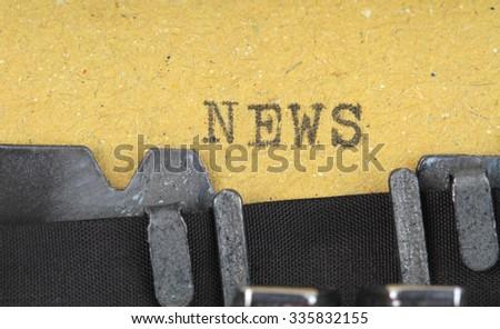 News written on an old typewriter  - stock photo