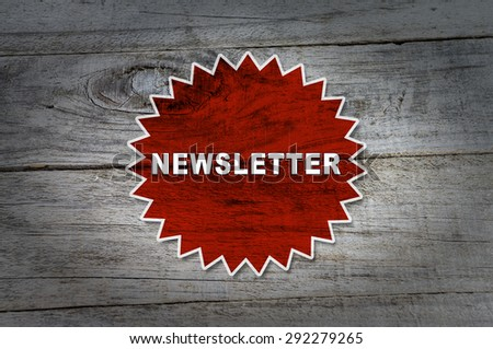 Newsletter - stock photo