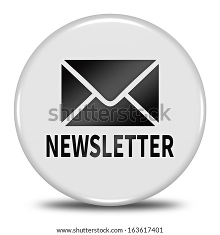 newsletter button isolated - stock photo